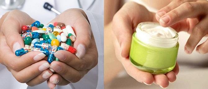Таблетки и мазь
