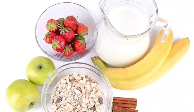 Молоко и растительная пища