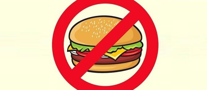 Бургеры нельзя
