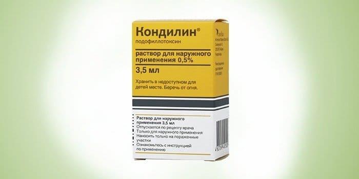Удаление папиллом лекарственными средствами
