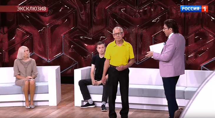 Луиза Хайруллина с мужем на ток-шоу Андрея Малахова