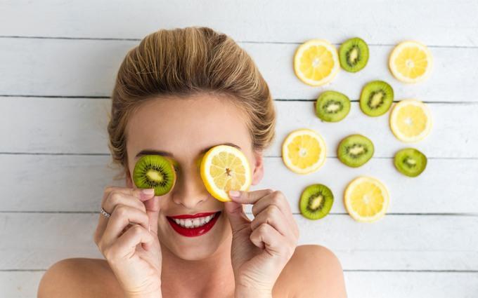 Киви и лимон для лица