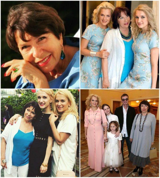 Наталья Красноярская с дочерью и внуками