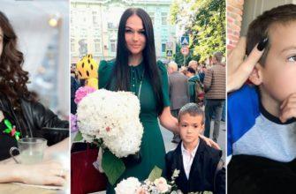 Алена Водонаева и ее сын