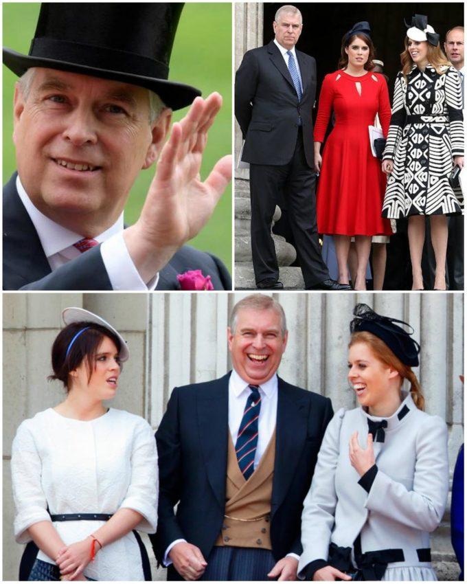 Принц Эндрю с дочерми