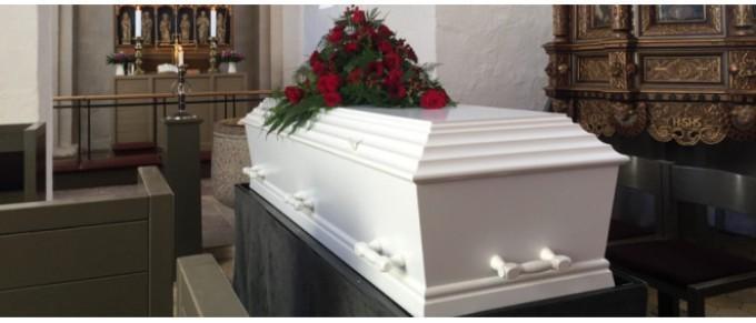 Гроб в комнате