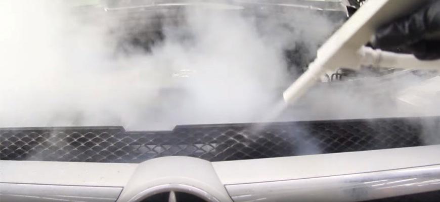 Чистка авто сухим льдом