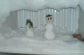 Снеговики в морозилке