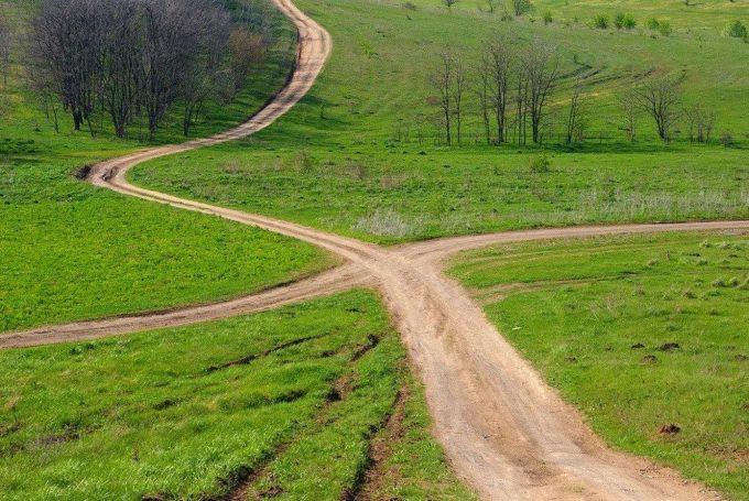 Пересечение двух дорог