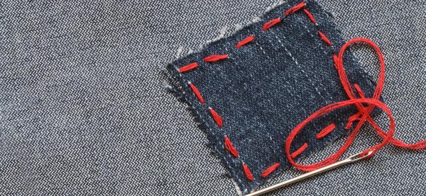 Заплатка на одежде