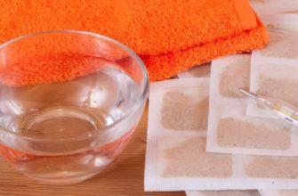 Горчичники, градусник и миска с водой