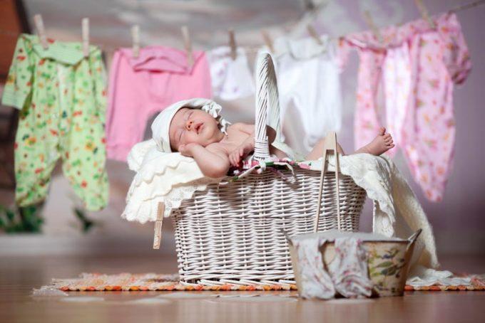Стирка вещей для новорожденного