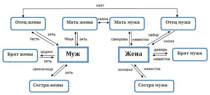 """Таблица """"родственные связи"""""""