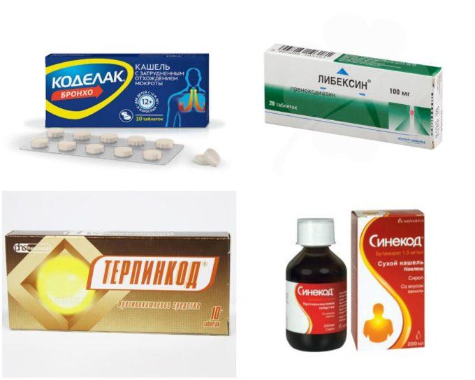 Противокашлевые лекарства