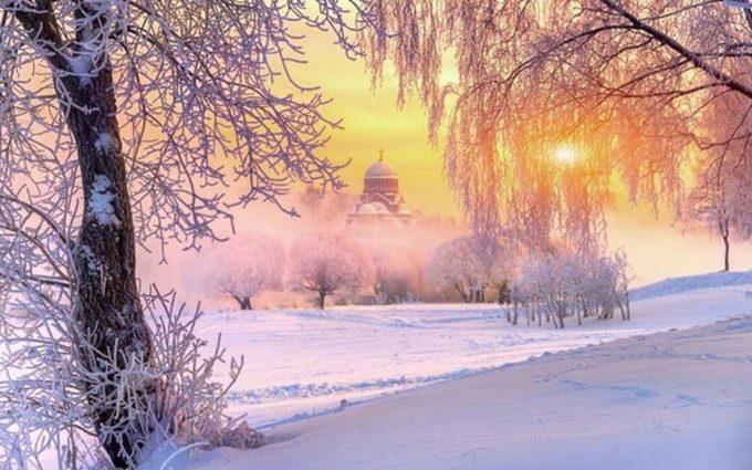 Солнечное зимнее утро