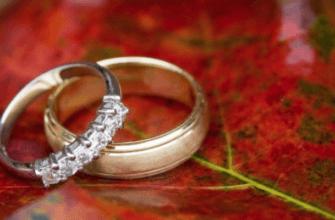 Обручальные кольца на листе