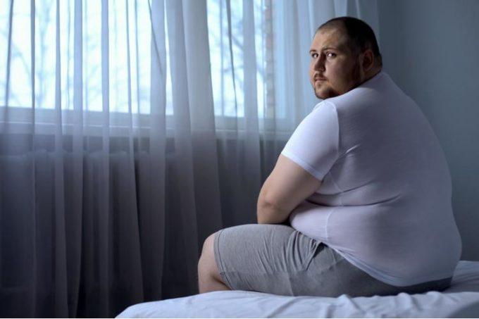 Парень с избыточным весом