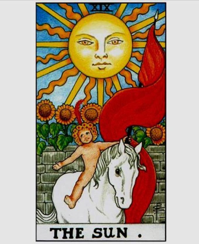 Картинка карты таро солнце