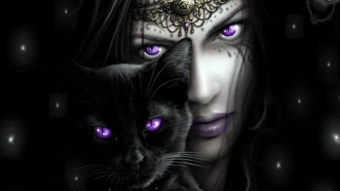 Черная кошка и колдунья
