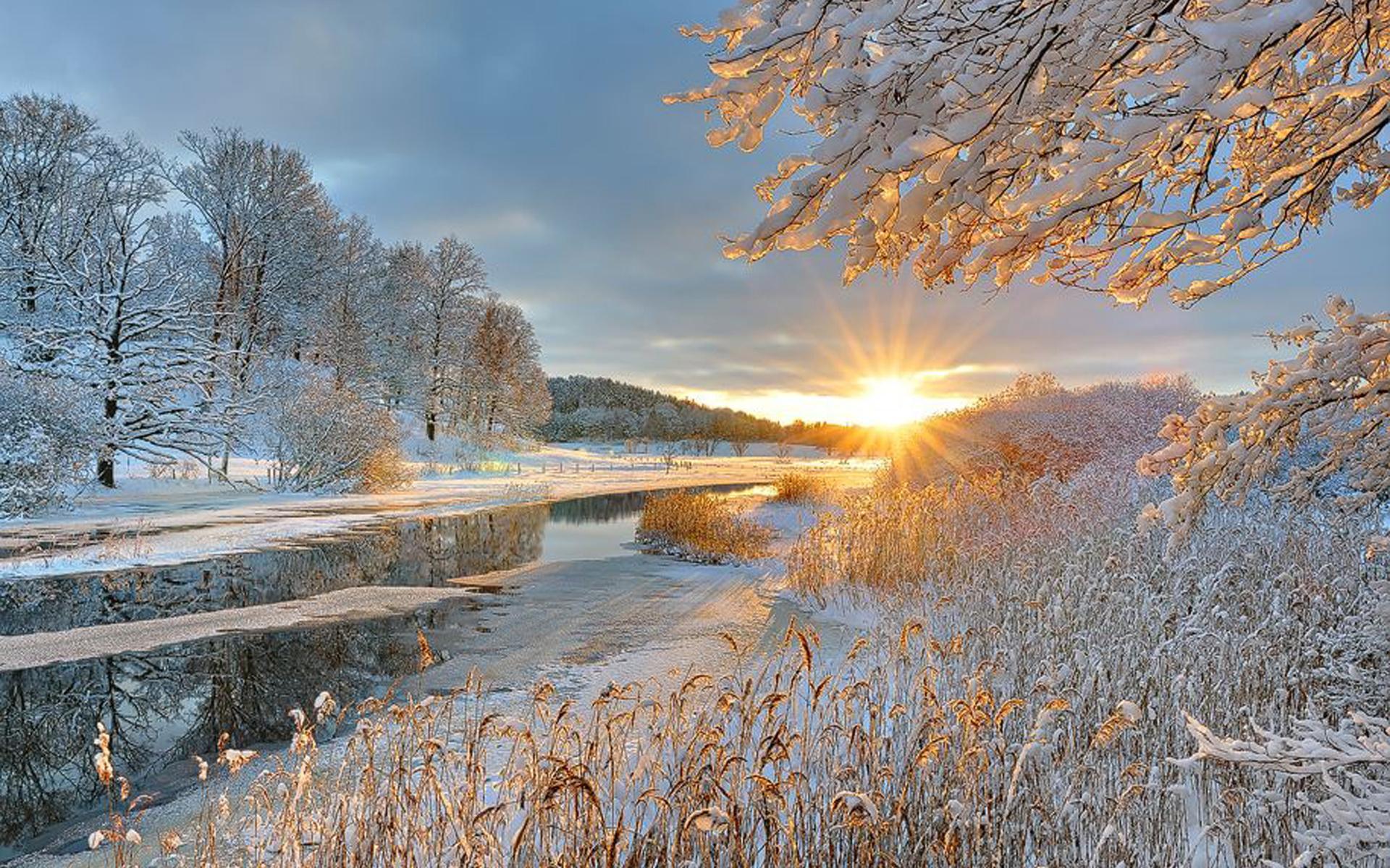 солнце и снег